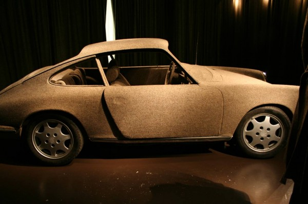 Porsche covered in tweed