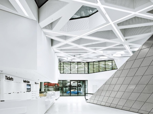 Lobby of the New Porsche Museum