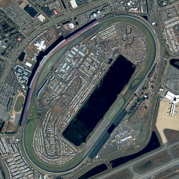 Aerial view of Daytona International Speedway