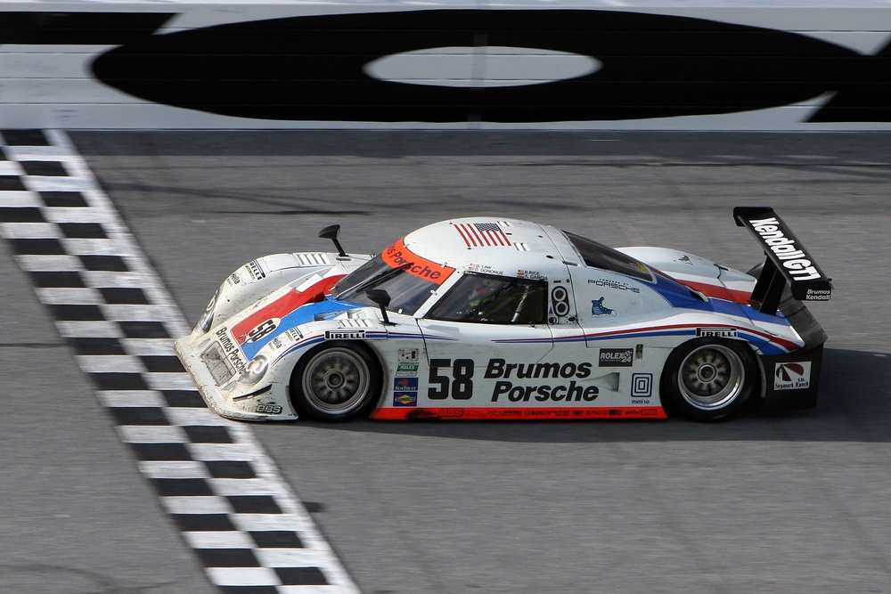 David Donohue winning the Rolex 24 Hours at Daytona