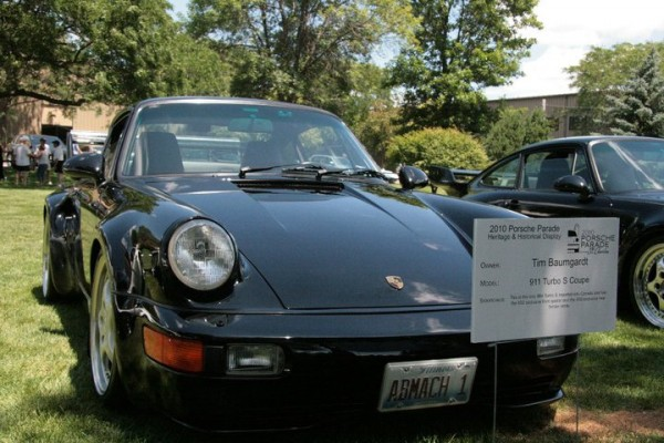Black Flatnose Turbo S Porsche 911