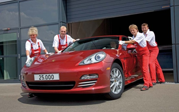 Ruby Red Porsche Panamera is the 25000th sedan to be produced