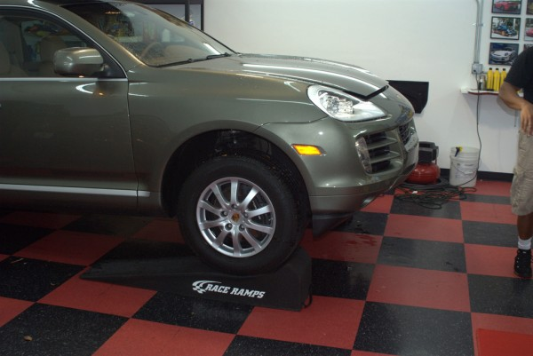 Porsche Cayenne on Race Ramps
