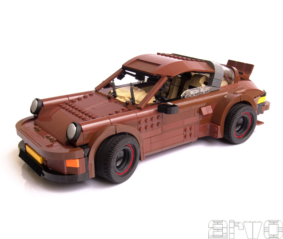 a lego porsche 911 with working suspension flatsixes. Black Bedroom Furniture Sets. Home Design Ideas