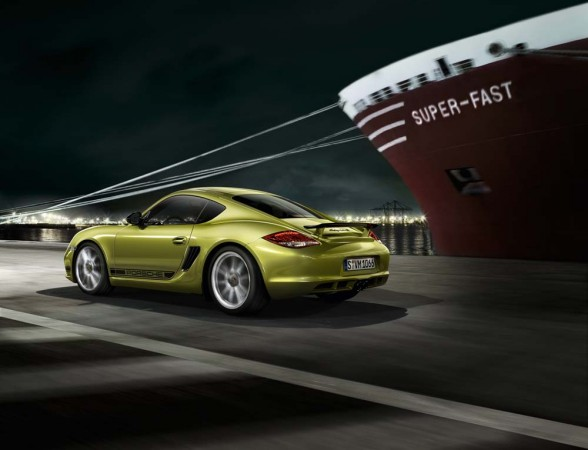 First pictures of the 2011 Porsche Cayman R