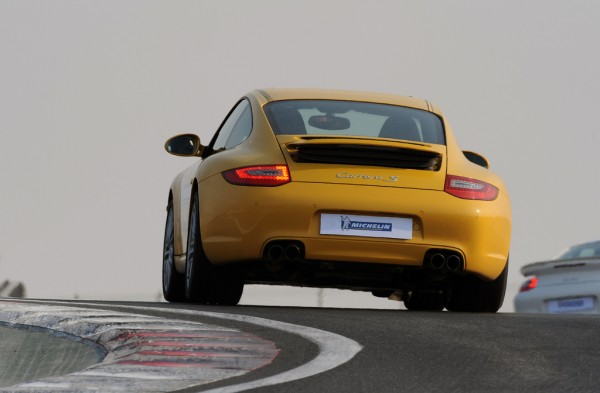 yellow porsche 911 dubai michelin super sport test
