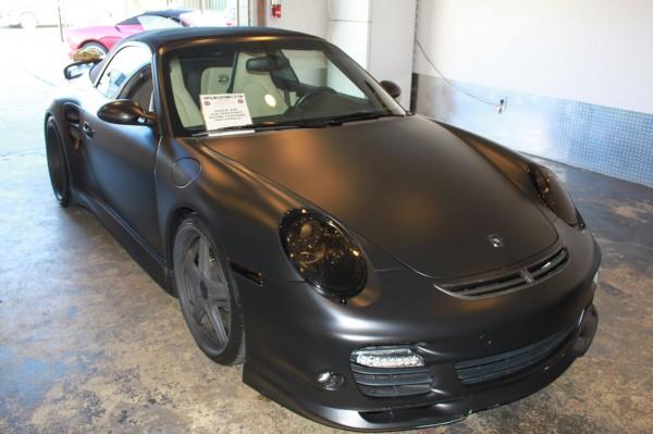 David Beckham's Flat Black Porsche for Sale