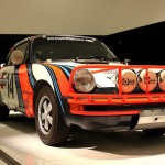 Martini liveried Porsche rally car