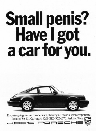 Porsche-small-penis-advertisement