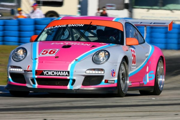 Melanie Snow's Pink Porsche Racing Car