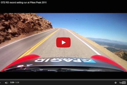 Video of Jeff Zwart's Record Breaking Run up Pikes Peak in a Porsche 911 GT2 RS