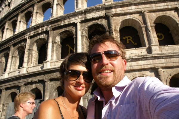 Chris and Sarah Bayliss in Rome