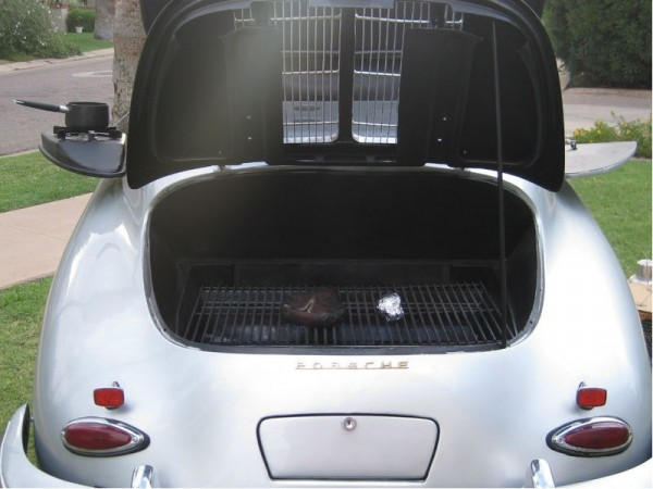 Porsche 356 Engine area turned into BBQ - Propane Grill