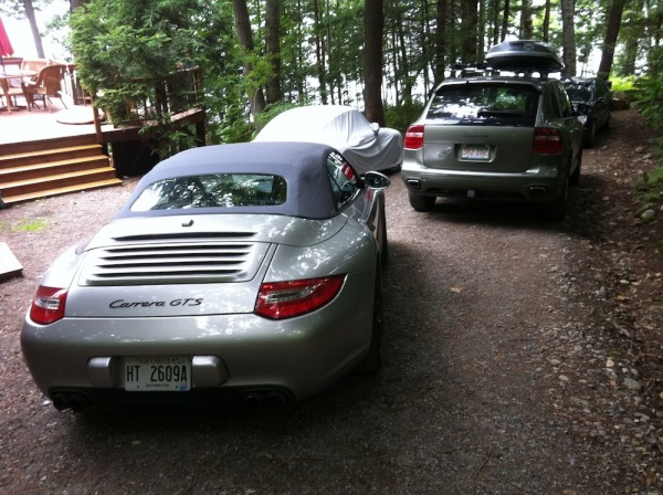 Porsche Carrera GTS, Cayenne and 993 C4S, mulitple Porsches in Driveway