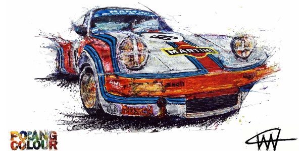 Ian cook pop bang porsche