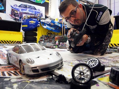 British Artist Uses RC Cars to Create Porsche Artwork
