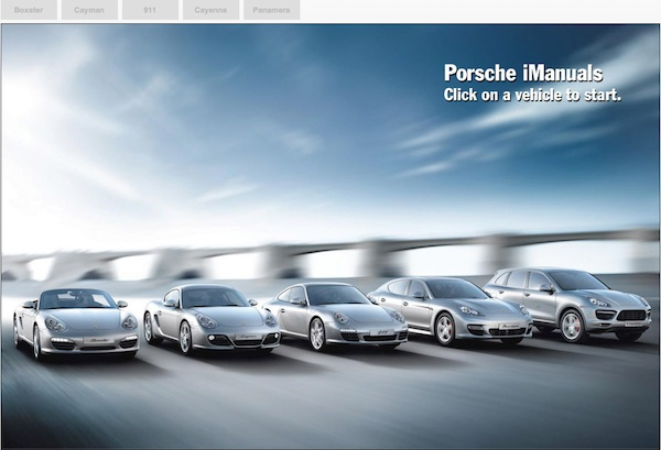 porsche owners manuals online