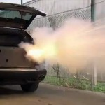 Testing the Claymore Mine System in the Weaponized Porsche Cayenne