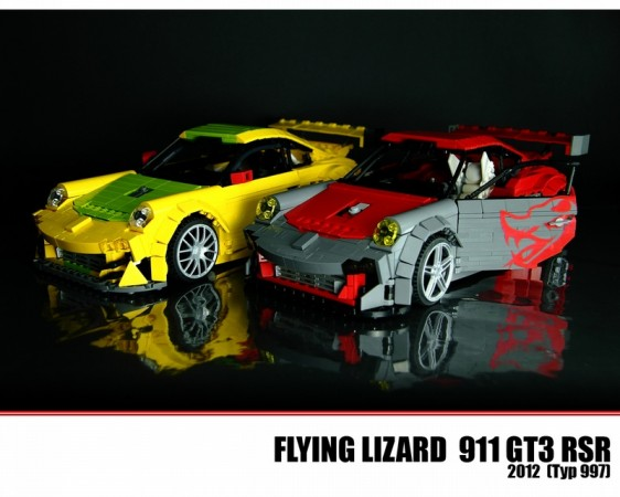 Flying Lizard Lego Porsche Livery