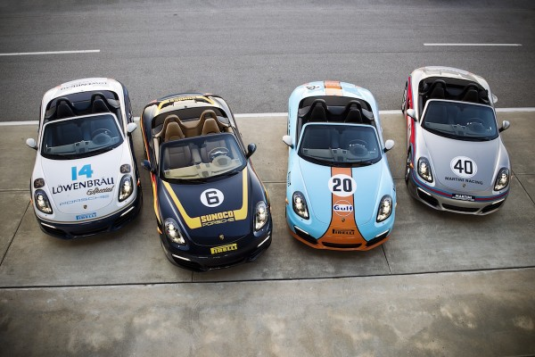 2013 Porsche Boxsters in Historic Racing Liveries
