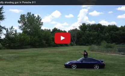 VIDEO: Did You Know You Can Use a Porsche 911 as a Rolling Shooter's Platform?