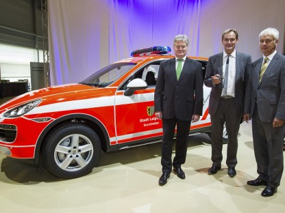 Porsche Builds a FireTruck to Mark the 500,000th Vehichle off the Production Line in Leipzig