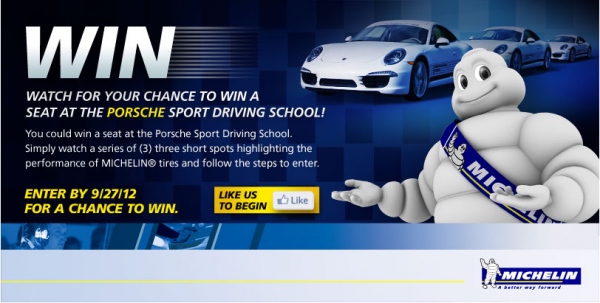 Michelin Porsche Sport Driving School contest