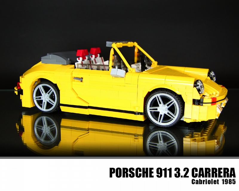 lego porsche 911 1985 carrera cabriolet 2 flatsixes. Black Bedroom Furniture Sets. Home Design Ideas