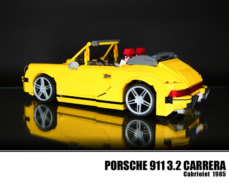 lego porsche 911 1985 carrera cabriolet flatsixes. Black Bedroom Furniture Sets. Home Design Ideas