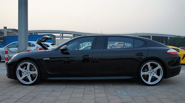 A black stretched panamera by RUF for the chinese market