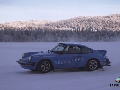 Ice Driving in 911 Rally Cars