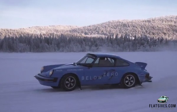 ice driving 911 rally cars