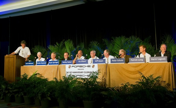 The speakers at the Porsche 911 Seminar during the Amelia Island Concours