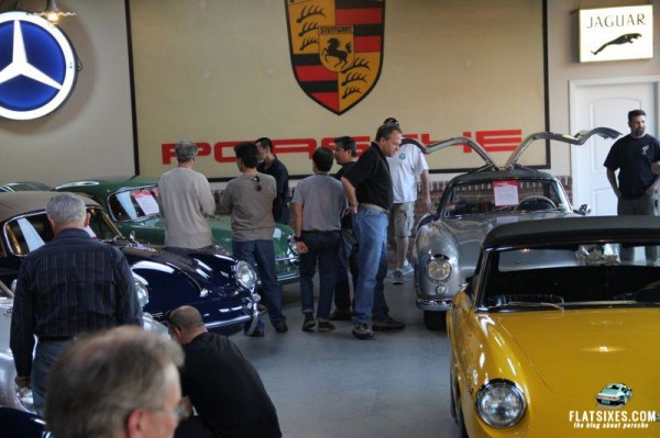 porsche on display at open house at european collectibles