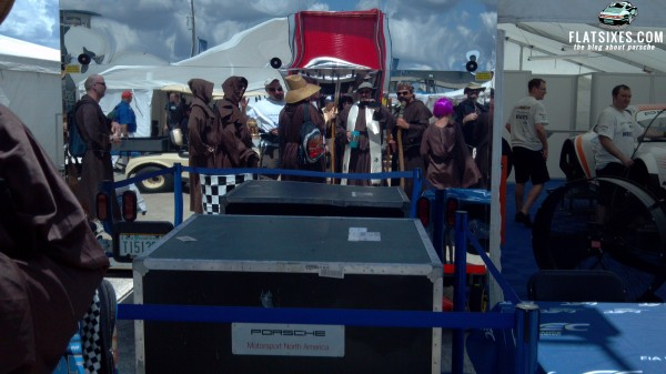 The drunk monks of sebring in the paddock