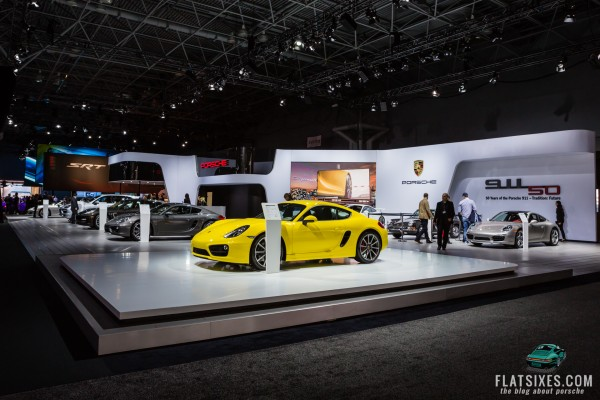 Porsche Booth at the New York International Auto Show