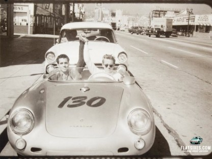 Is This the Final Picture of James Dean in his Porsche 550 Spyder? If So it's up for Auction!