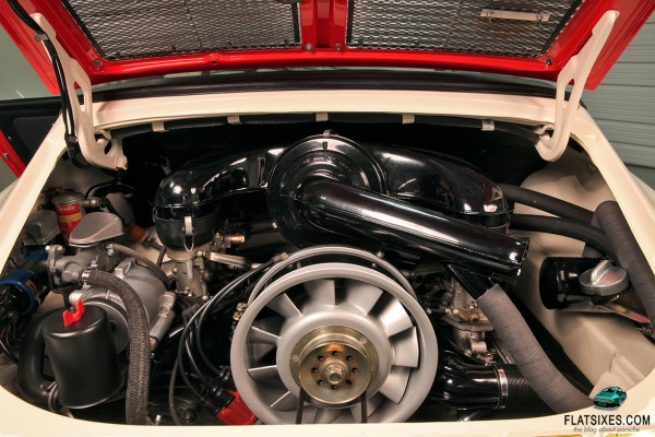 Engine in a 1968 Porsche 911 Police Car