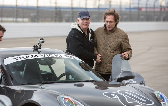 Larry Sharp and William Fichtner check out their ride for the competition.