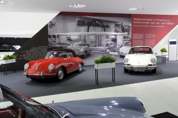 The special exhibition displays the presentation of the Porsche 901 at the IAA in Frankfurt in September 1963.