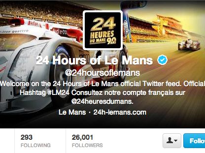The 24 Hours of Le Mans on Twitter for Porsche Fans