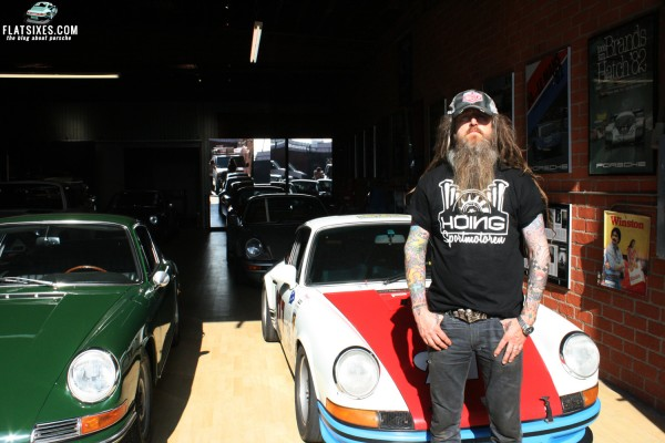 Magnus walker wearing hoeing engine shirt