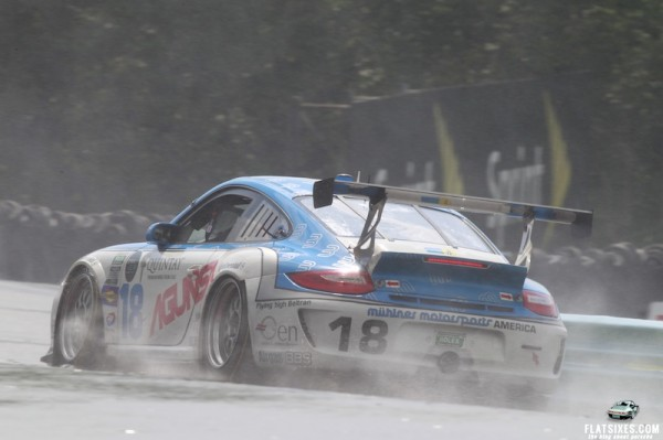 Porsche20.2013- Grand-Am- Watkins Glen-No18 MuelhnerMotorsportsAmerica-During Downpour