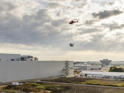 Porsche Completes Construction of their New Paint Shop Using Helicopters