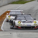 Porsche22.2013- ALMS- Road America- Paul Miller Racing and CORE autosport push fighting for GT honors