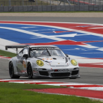 2013- ALMS- Austin- No27 Dempsey Racing Porsche under braking09