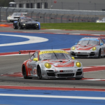 2013- ALMS- Austin- No45 leads No44 Flying Lizard Porsche16