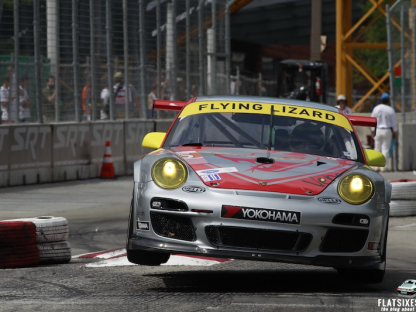 2013- Baltimore- ALMS- No45 Flying Lizard Porsche- Chicane27