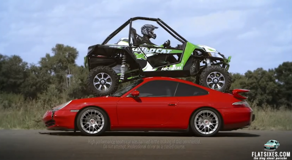 arctic cat wildcat crushing porsche