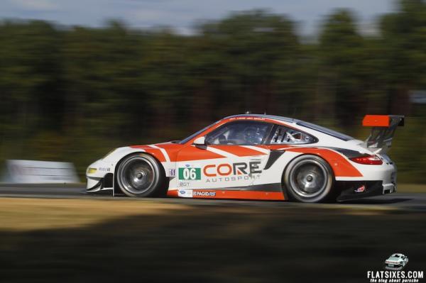 2013- ALMS- VIR- No06 CORE autosport Porsche testing at VIR06